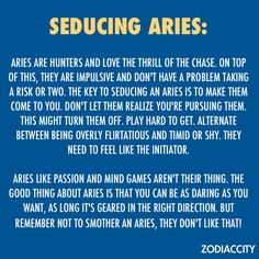 Aries: Do NOT SMOTHER me, or I'll run for the hills w/o looking back! *fact