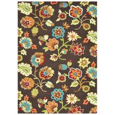 "Found+it+at+Wayfair+-+Juliana+Brown+Floral+3'6""+x+5'6""+Rug"