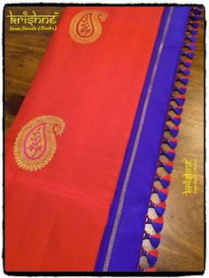 Saree Tassels Designs, Saree Kuchu Designs, Wedding Saree Blouse Designs, Pattu Saree Blouse Designs, Saree Accessories, Blouse Designs Catalogue, Simple Sarees, Chiffon, Blouse Desings