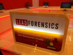 Lead Forensics stand