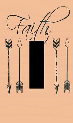 light switch plate arrow art arrows faith by SindyOriginalDecor
