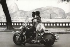 #travelcolorfully frank horvat's photograph of a rio de janeiro couple on a harley davidson bike