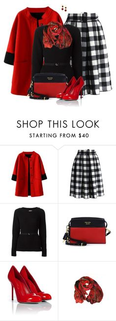 """""""Pleated Skirt"""" by daiscat ❤ liked on Polyvore featuring Chicwish, Moncler, Prada, Sergio Rossi and Lee Angel Jewelry"""