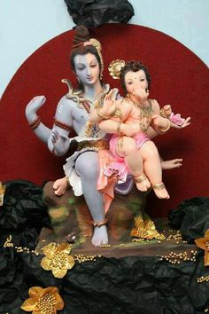 Ardhnarieshwar with little Ganesh Sri Ganesh, Ganesh Lord, Ganesh Bhagwan, Happy Ganesh Chaturthi Images, Ganesh Photo, Barbie Cartoon, Baby Ganesha, Ganesh Idol, Lakshmi Images