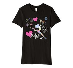Women's I  Heart Dance 2 - Slim Fit T-Shirt. Perfect shirt for the dancer. Swirls and hearts to dance through. Available in 5 colors  Fit: Slim (consider ordering a larger size for a looser fit)  #DanceShirt, #Dancer, Dance Wear, Jazz, Ballet, Ballerina, Recital, Leggings, #Jazz , #Ballerina, #Tap, #Dance #Music