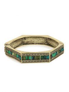 """Emerald Hexa Bangle"" #emerald #bracelet #green"