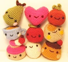Kawaii Tiny Amigurumi PDF crochet pattern.