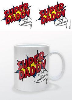 Super Daddy - Mok voor alle super papa's! Verkrijgbaar op Merchandisehouse.nl. Leuk om cadeau te geven met Vaderdag of gewoon zomaar :-)