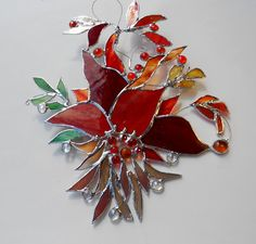 Stained Glass Suncatcher. Wild Forest. by jacquiesummer on Etsy
