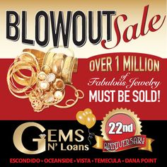 #Christmas may be over but you can still #shop Gems N' Loans blowout #sale. We're making room to roll out the new 2016 inventory. Over 1 million of fabulous #jewelry must be sold. #NewYear2016