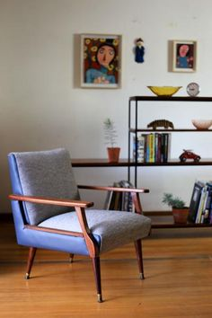 Upholstered Mid Century Modern Arm Chair