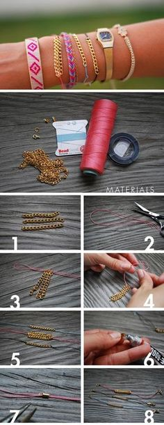 DIY Chain Friendship Bracelet DIY Jewelry DIY Bracelet