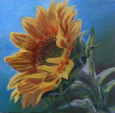 Sunflower Akryl na plátne, 45x45 Plants, Painting, Art, Art Background, Painting Art, Kunst, Paintings, Plant, Performing Arts