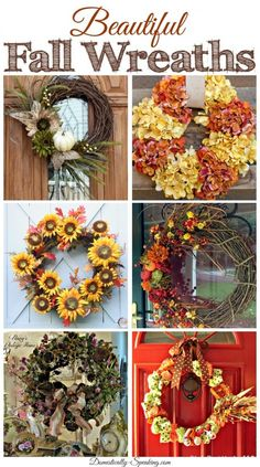 6 gorgeous fall wreaths you can make!