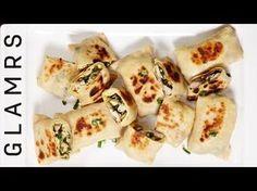Yummy Chicken Katti Kebab   Tasty and Easy Starter Recipe   Mini Katti Appetiser Rolls - YouTube