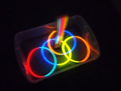 Glow in the Dark Ring Toss: perfect camping activity!
