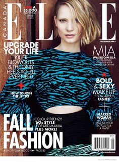 Mia Wasikowska by Max Abadian for the cover of Elle Canada September 2014