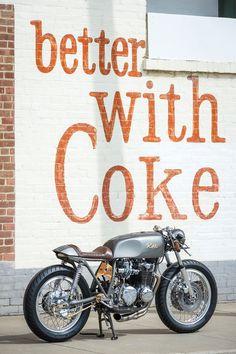 '74 CB550 cafe racer.