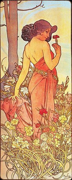 Alfons Mucha - 1898 - The Flowers Carnation.jpg
