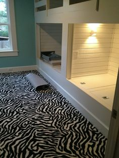 Install of the Carpet in Isabelle's Bedroom with built in bunk beds! Amy Wikman Rocks!