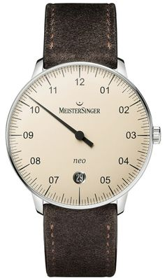 MeisterSinger Watch Neo #basel-15 #bezel-fixed #bracelet-strap-suede #brand-meistersinger #case-material-steel #case-width-36mm #clasp-type-tang-buckle #date-yes #delivery-timescale-1-2-weeks #dial-colour-ivory #gender-mens #luxury #movement-automatic #new-product-yes #official-stockist-for-meistersinger-watches #packaging-meistersinger-watch-packaging #subcat-neo #supplier-model-no-ne903n-suede-dark-brown #warranty-meistersinger-official-2-year-guarantee
