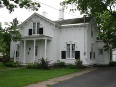 My house, my very favorite space. A Victorian cottage reminiscent of Andrew Jackson Downing's houses. Carpenter Gothic.