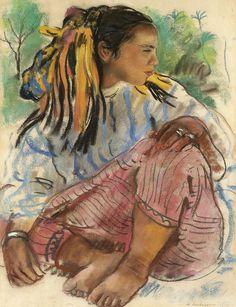 Молодая марокканка. 1932. 60 х 45 см. пастель. Зинаида Серебрякова