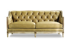 Love this little sofa - comes in leather + fabric. Handcrafted Furniture by Hancock and Moore