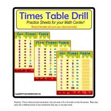 Multiplication Times Tables Practice Boards- Learning the multiplication times tables can be challenging for some.  With these easy to use practice multiplication boards, your students will be able to recite the times tables from 1 x 10 all the way up to 10 x 10!  Use as a reinforcement or enrichment exercise for skip-counting skills - See more at: www.AutismEducators,com