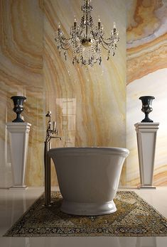 Porcelain slabs! Amazing stuff! More durable than marble, Clay is ink jet…