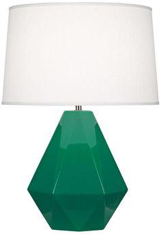Robert Abbey Delta Emerald Green 22 1/2 Inch H Table Lamp