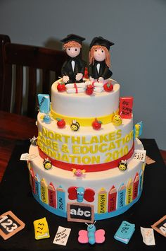 Preschool Graduation Cake by leash loves cakes, via Flickr