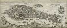 Venice, Italy, 1650 - by Swiss-born engraver Matthäus Merian