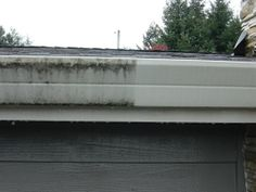 Before/after Exterior Gutter cleaning