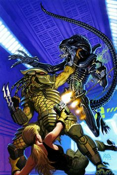 Predator: Booty (One-Shot) Aliens vs. Predator Booty Art by: Denis Beauvais Alien Vs Predator 2004, Predator Alien, Predator Cosplay, Predator Movie, Arte Alien, Alien Art, Sci Fi Movies, Horror Movies, King Kong
