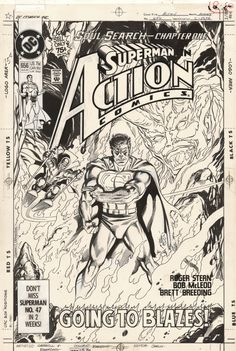 Comic Link :: The Online Vintage Comic Book and Comic Art Auction and Exchange Superman Comic Books, Comic Book Heroes, Comic Book Pages, Comic Page, Vintage Comic Books, Vintage Comics, Comic Link, Comic Kunst, Artist Life