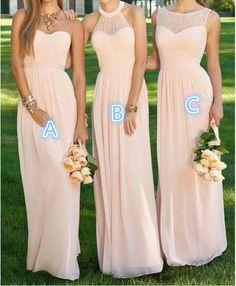 Newest Prom Dress, Chiffon Prom Dress, Bridesmaid Dress