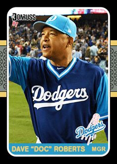"""Players Weekend Fantasy Dodger Cards - Dave """"Doc"""" Roberts"""