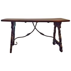 19th Century Italian Walnut Trestle Table | See more antique and modern Tables at http://www.1stdibs.com/furniture/tables/tables