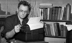 Nelson Algren at the typewriter