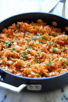 Mexican Rice - Restaurant-style Mexican rice can easily be made right at home, and it tastes a million times better too!