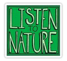 Listen to Nature Sticker