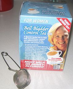 BELL BLADDER CONTROL TEA FOR WOMEN…. Frequent Bathroom Trips? A Special herbal tea to help with incontinence. When I started drinking this beautiful tasting loose tea I have fewer trips to th…