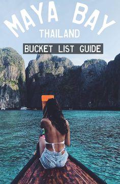 Maya bay is 30 minutes by boat from Koh phi phi island. First you need to get to Koh Phi Phi. Take a ferry from Phuket or Krabi. Thailand Beach, Thailand Vacation, Thailand Travel Guide, Asia Travel, Phuket Thailand, Chiang Mai, Bangkok, Koh Phangan, Pattaya