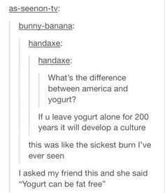 Yogurt and America