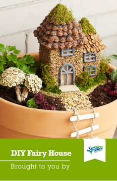 Making a DIY fairy house garden is easier than you'd think! Look around your home for tiny materials fit for a fairy – like sea shells, acorns or buttons – to craft a fairy house garden all your own.