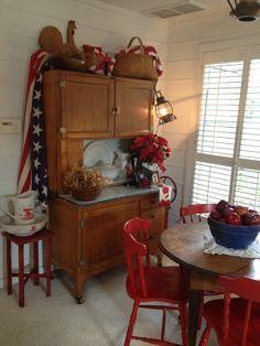 Americana Decor...really want the hutch.