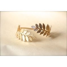 Athena Arm Band, Greek Leaves Arm Cuff, Wrap Around Arm, Flexible... ($65) ❤ liked on Polyvore featuring jewelry, bracelets, accessories, arm band, bijoux, leaf bangle, bridal jewelry, golden bracelet, 24k bracelet and wedding jewelry                                                                                                                                                                                 More