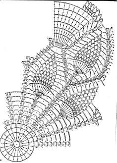 Diagramme napperon au crochet le petit monde de souris