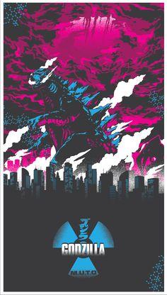 Godzilla Fan Art (nuclear variant) by Daniel Shearn